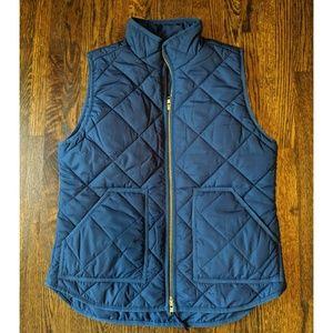 J.Crew navy puffer vest